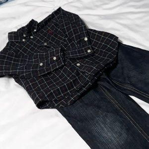 Ralph Lauren Shirt & Gap Jean's 3T